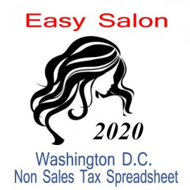 Washington D.C. Non-Sales Tax Hairdresser Bookkeeping Spreadsheets for 2020 year end