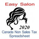 Canada non-sales tax hairdresser spreadsheet for 2020 year end