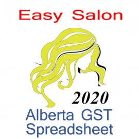 Alberta salon bookkeeping & GST spreadsheet for 2020 year end