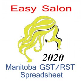 Manitoba salon bookkeeping GST/RST spreadsheet for 2020 year end