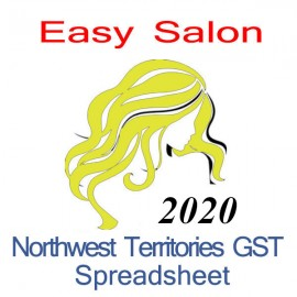 Northwest Territories salon bookkeeping GST spreadsheet for 2020 year end