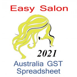 Australia Salon Bookkeeping & GST spreadsheet for 2021 year end