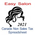 Canada non-sales tax hairdresser spreadsheet for 2021 year end