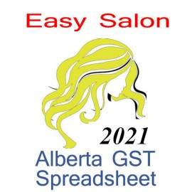 Alberta Salon Bookkeeping & GST Spreadsheets for 2021 year end