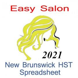 New Brunswick salon bookkeeping HST spreadsheet for 2021 year end
