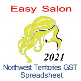 Northwest Territories salon bookkeeping GST spreadsheet for 2021 year end