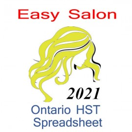 Ontario salon bookkeeping HST spreadsheet for 2021 year end