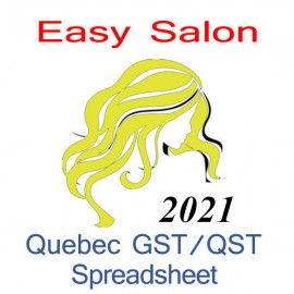 Quebec salon bookkeeping QST spreadsheet for 2021 year end