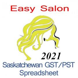 Saskatchewan salon bookkeeping GST/PST spreadsheet for 2021 year end