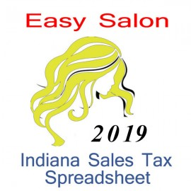 Indiana Salon Accounts & Sales Tax Spreadsheet for 2021 year end
