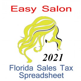Florida Salon Accounts & Sales Tax Spreadsheet for 2021 year end