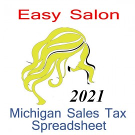 Michigan Salon Accounts & Sales Tax Spreadsheet for 2021 year end