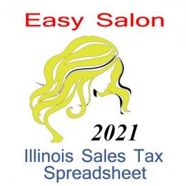 Illinois Salon Accounts & Sales Tax Spreadsheet for 2021 year end