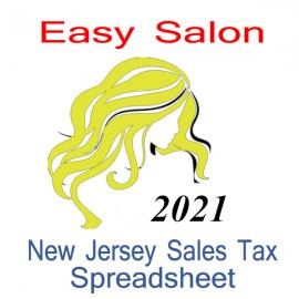 New Jersey Salon Accounts & Sales Tax Spreadsheet for 2021 year end