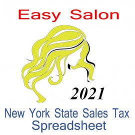 New York State Salon Accounts & Sales Tax Spreadsheet for 2021 year end