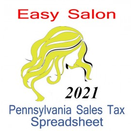 Pennsylvania Salon Accounts & Sales Tax Spreadsheet for 2021 year end