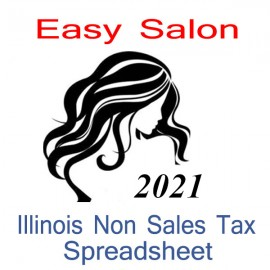 Illinois Non-Sales Tax Hairdresser Bookkeeping Spreadsheets for 2021 year end