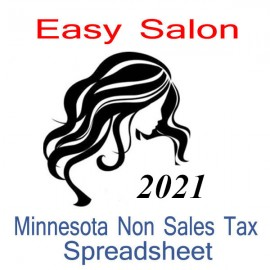 Minnesota Non-Sales Tax Hairdresser Bookkeeping Spreadsheets for 2021 year end