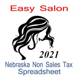 Nebraska Non-Sales Tax Hairdresser Bookkeeping Spreadsheets for 2021 year end