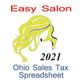 Ohio Non-Sales Tax Hairdresser Bookkeeping Spreadsheets for 2021 year end