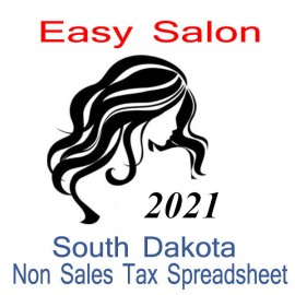 South Dakota Non-Sales Tax Hairdresser Bookkeeping Spreadsheets for 2021 year end