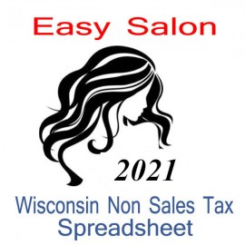 Wisconsin Non-Sales Tax Hairdresser Bookkeeping Spreadsheets for 2021 year end