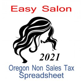 Oregon Non-Sales Tax Hairdresser Bookkeeping Spreadsheets for 2021 year end