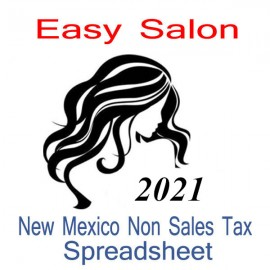 New Mexico Non-Sales Tax Hairdresser Bookkeeping Spreadsheets for 2021 year end