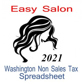 Washington Non-Sales Tax Hairdresser Bookkeeping Spreadsheets for 2021 year end