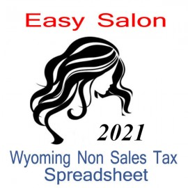 Wyoming Non-Sales Tax Hairdresser Bookkeeping Spreadsheets for 2021 year end