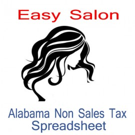 Alabama Non-Sales Tax Hairdresser Bookkeeping Spreadsheets for 2021 year end