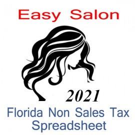Florida Non-Sales Tax Hairdresser Bookkeeping Spreadsheets for 2021 year end