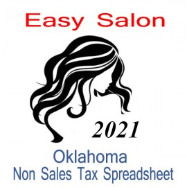 Oklahoma Non-Sales Tax Hairdresser Bookkeeping Spreadsheets for 2021 year end