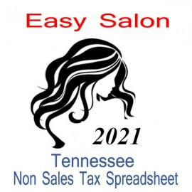 Tennessee Non-Sales Tax Hairdresser Bookkeeping Spreadsheets for 2021 year end
