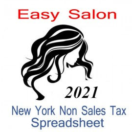 New York Non-Sales Tax Hairdresser Bookkeeping Spreadsheets for 2021 year end