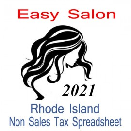 Rhode Island Non-Sales Tax Hairdresser Bookkeeping Spreadsheets for 2021 year end