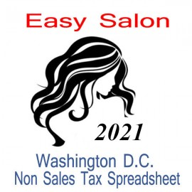 Washington D.C. Non-Sales Tax Hairdresser Bookkeeping Spreadsheets for 2021 year end